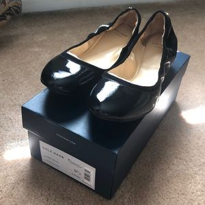 Cole Haan Avery Ballet - Black Patent - sz 9.5